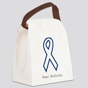 Navy Blue: Fear Nothing Canvas Lunch Bag