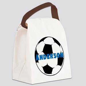 Personalized Soccer Canvas Lunch Bag