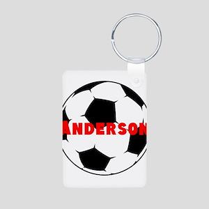 Personalized Soccer Aluminum Photo Keychain