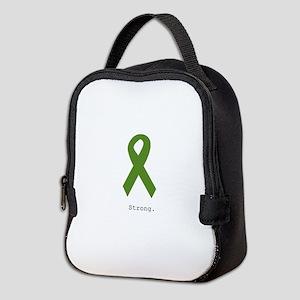Green Ribbon: Strong Neoprene Lunch Bag