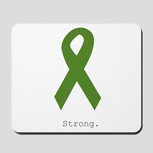 Green Ribbon: Strong Mousepad