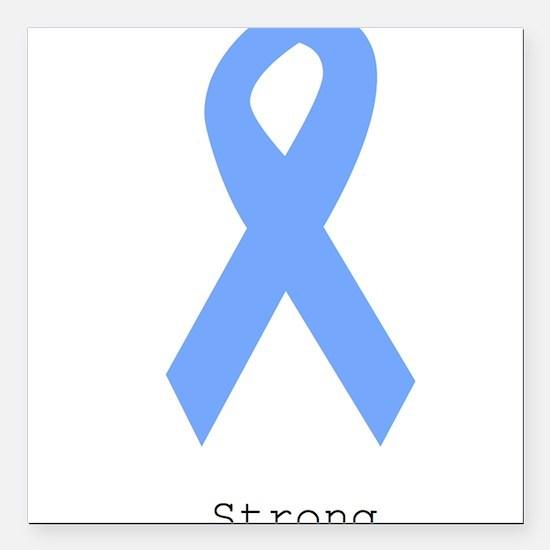"Light Blue: Strong Square Car Magnet 3"" x 3"""