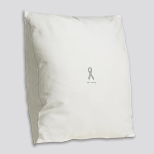 Silver: Fear Nothing Burlap Throw Pillow