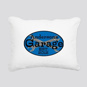 Personalized Garage Rectangular Canvas Pillow