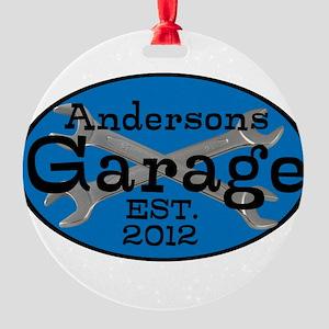 Personalized Garage Round Ornament