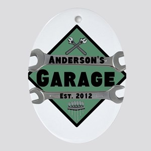 Personalized Garage Oval Ornament