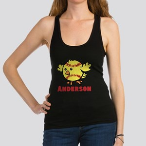Personalized Softball Chick Racerback Tank Top