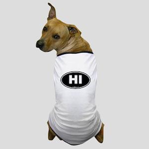 Hawaii HI Euro Oval Dog T-Shirt