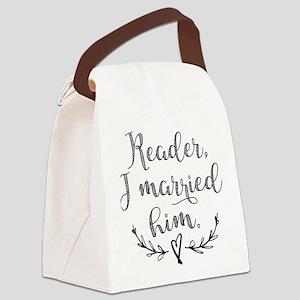 Reader I Married Him Canvas Lunch Bag