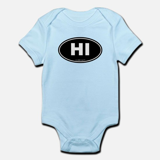 Hawaii HI Euro Oval Infant Bodysuit