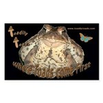 Toadily Toads Rectangle Sticker