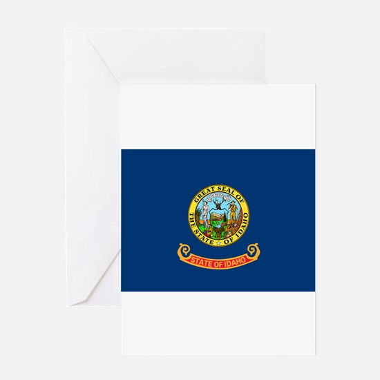 Idaho State Flag Greeting Cards