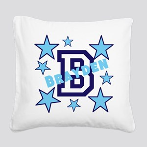 Personalized Kids Name Square Canvas Pillow