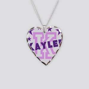 Personalized Kids Name Necklace Heart Charm