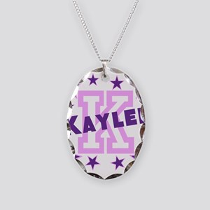Personalized Kids Name Necklace Oval Charm