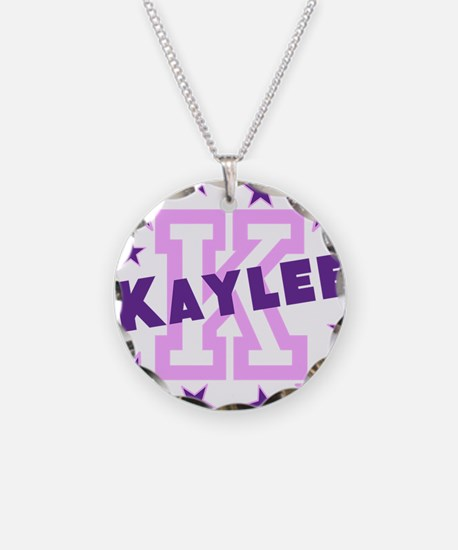 Personalized Kids Name Necklace Circle Charm