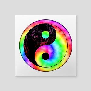 Rainbow Swirl Yin Yang Symbol Sticker