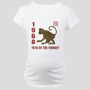 1968 Year of The Monkey Maternity T-Shirt