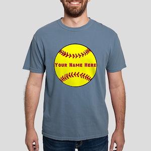 Personalized Softball Mens Comfort Colors Shirt