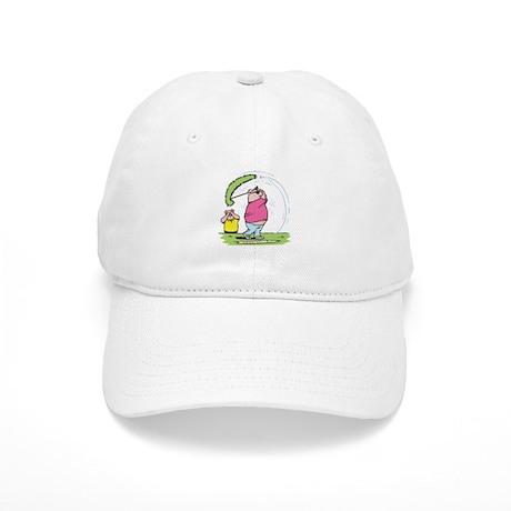 Funny Golfing Pig Cap