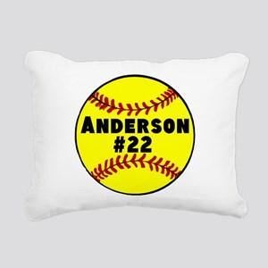 Personalized Softball Rectangular Canvas Pillow
