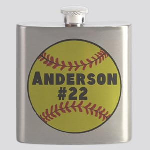 Personalized Softball Flask