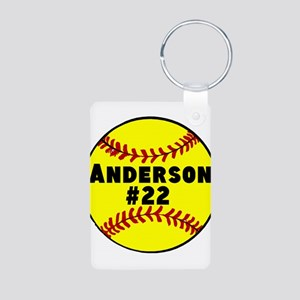 Personalized Softball Aluminum Photo Keychain