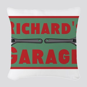 Personalized Garage Woven Throw Pillow