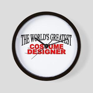 """The World's Greatest Costume Designer"" Wall Clock"