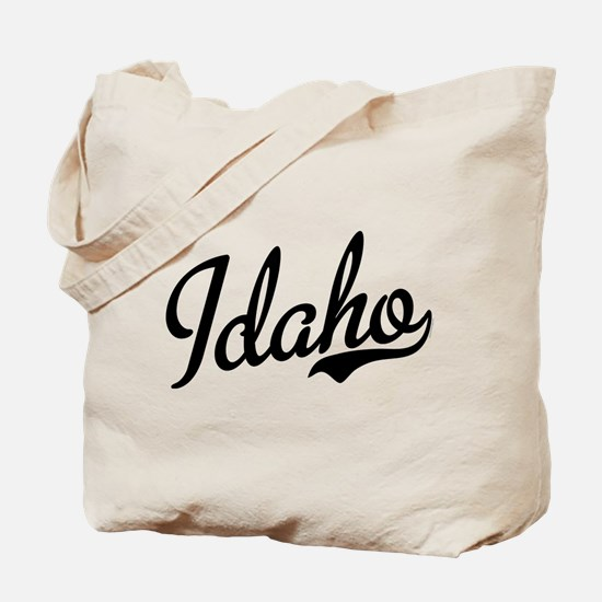 Idaho Script Black Tote Bag