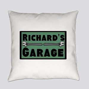 Personalized Garage Everyday Pillow