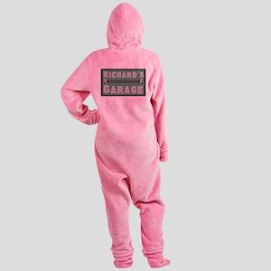 Personalized Garage Footed Pajamas