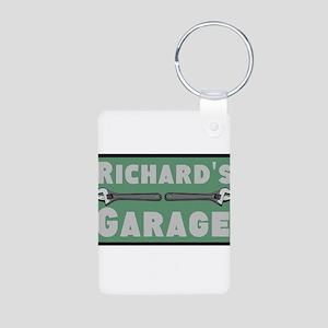 Personalized Garage Aluminum Photo Keychain