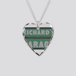 Personalized Garage Necklace Heart Charm