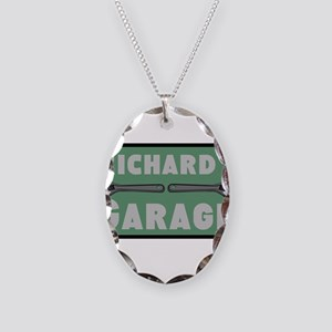 Personalized Garage Necklace Oval Charm