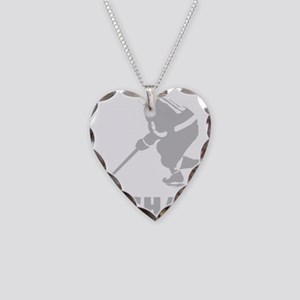 Personalized Hockey Necklace Heart Charm