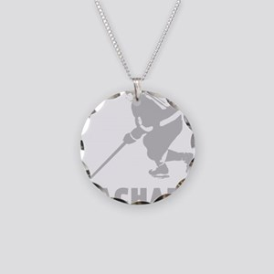Personalized Hockey Necklace Circle Charm