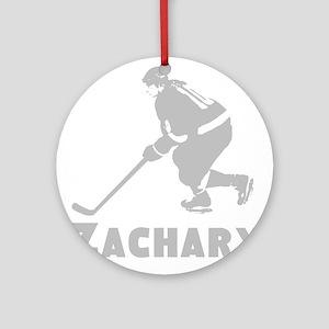 Personalized Hockey Round Ornament