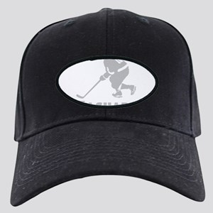 Personalized Hockey Black Cap with Patch