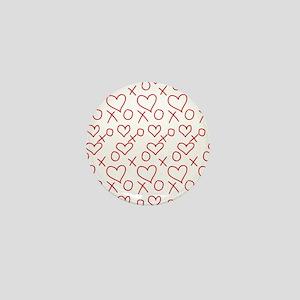 xoxo Heart Red Mini Button