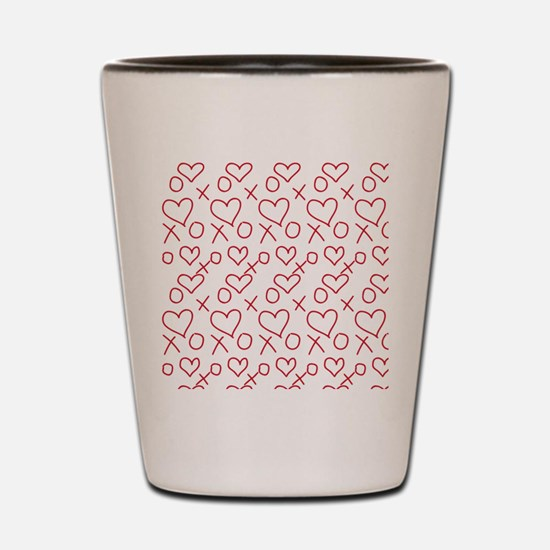 xoxo Heart Red Shot Glass
