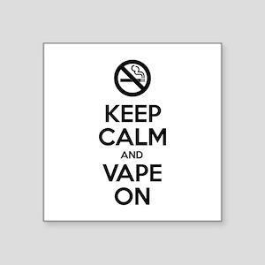 Keep Calm and Vape On Sticker