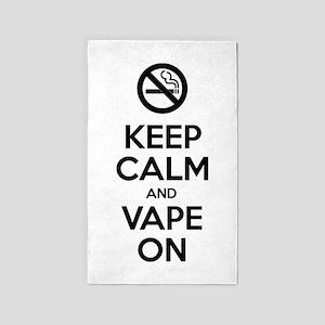 Keep Calm and Vape On Area Rug