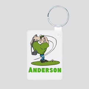 Personalized Golf Aluminum Photo Keychain