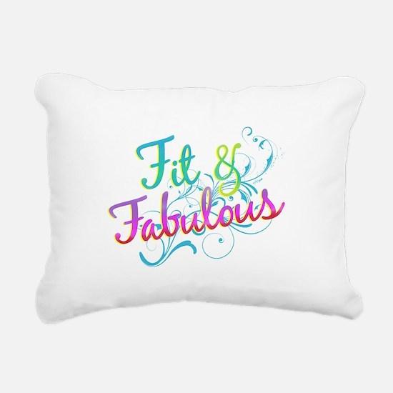 Fit and Fabulous Rectangular Canvas Pillow