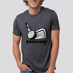 Personalized Golf Mens Tri-blend T-Shirt