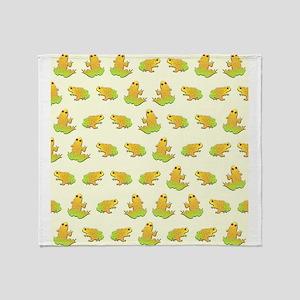 Frogs pattern Throw Blanket