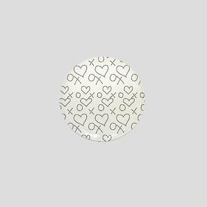 xoxo Heart Outline Black Mini Button