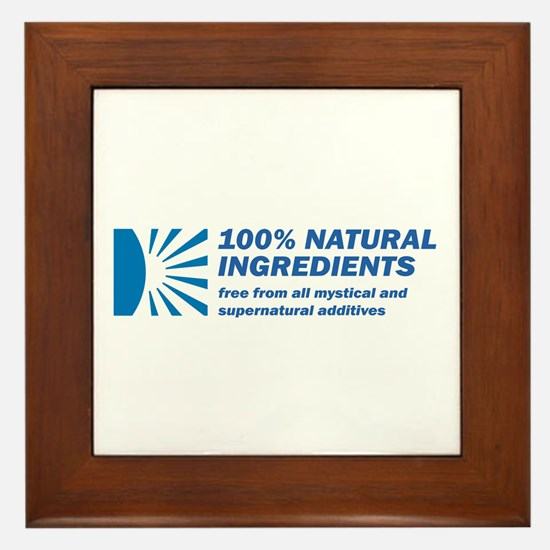 100% Natural Framed Tile