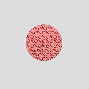 xoxo Red Pink Mini Button